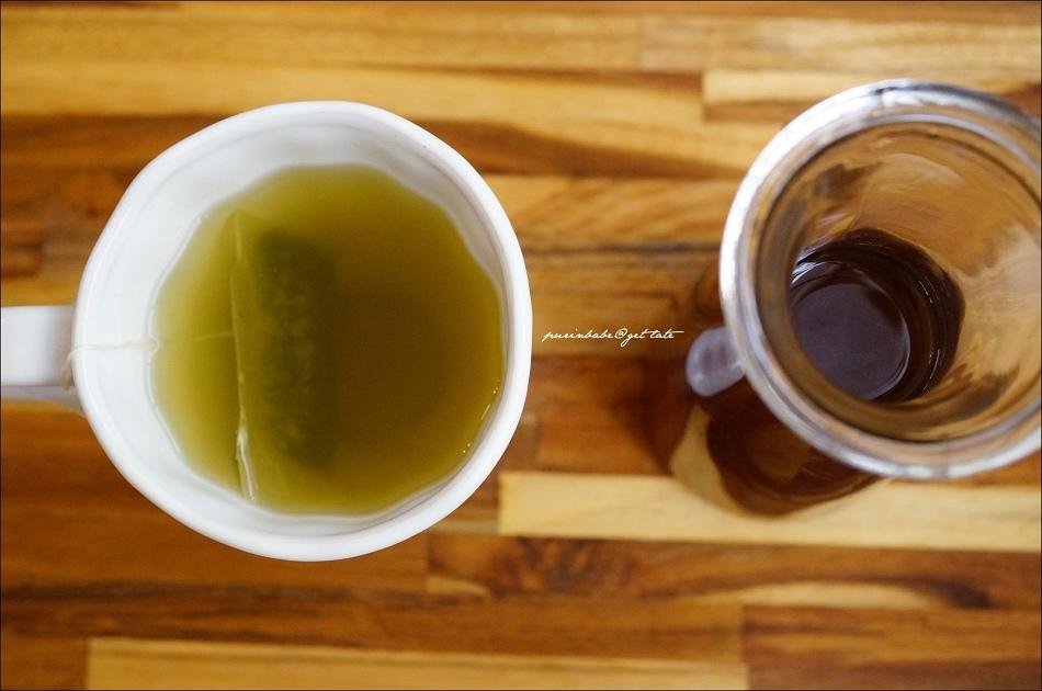 33熱焙綠茶 冰美式咖啡