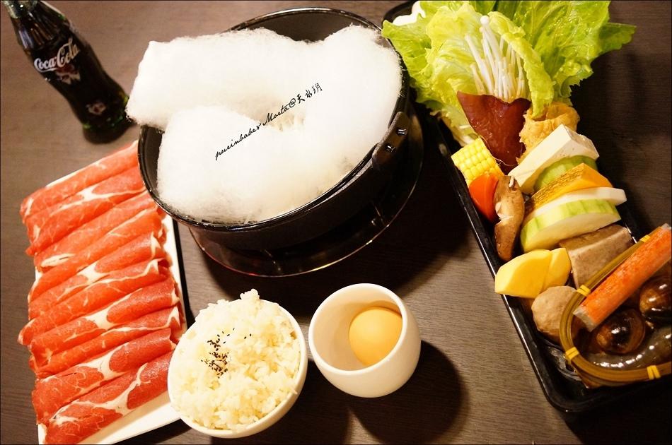 23牛五花肉壽喜燒套餐
