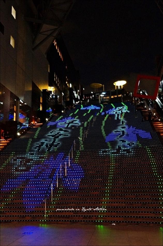30近看京都車站LED台階5
