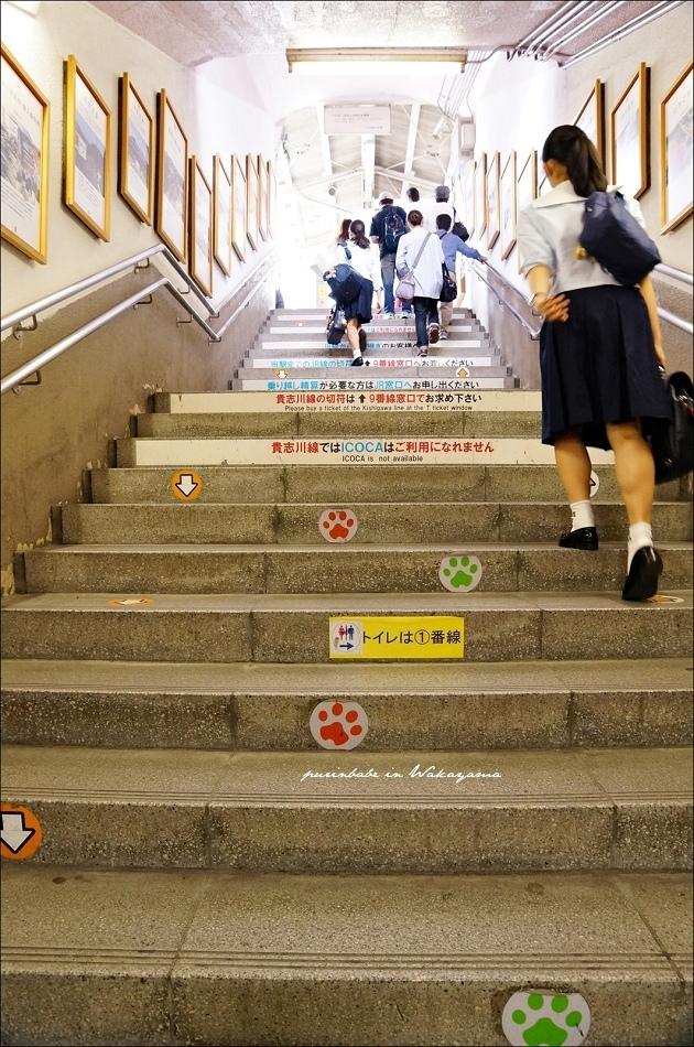 7JR和歌山站9號月台接和歌山電鐵2