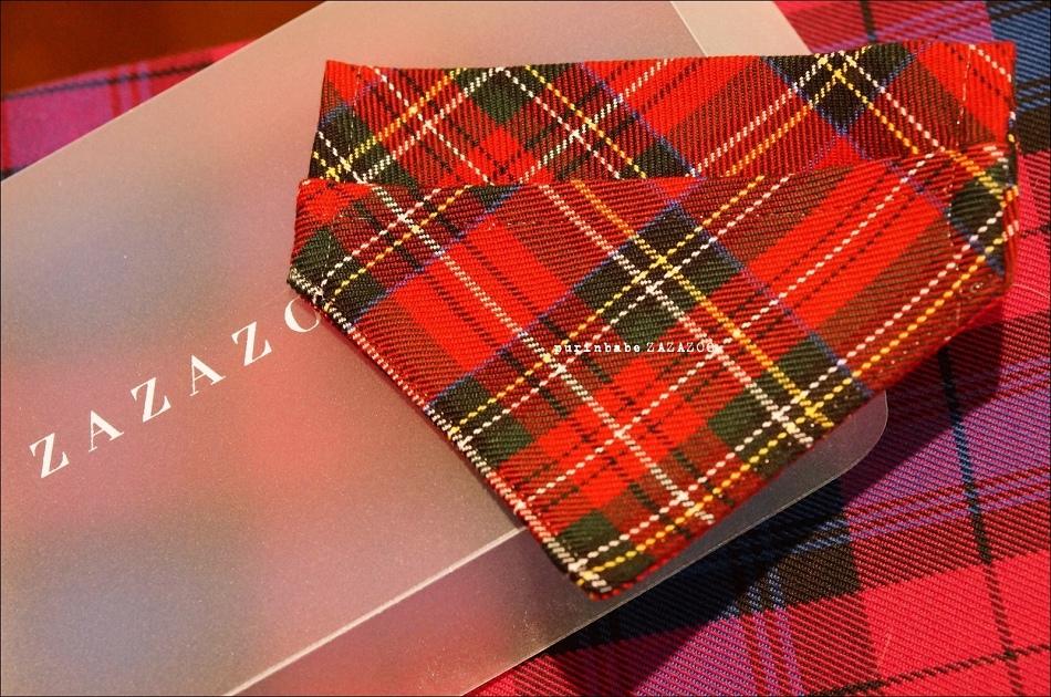 37紅格紅包領巾