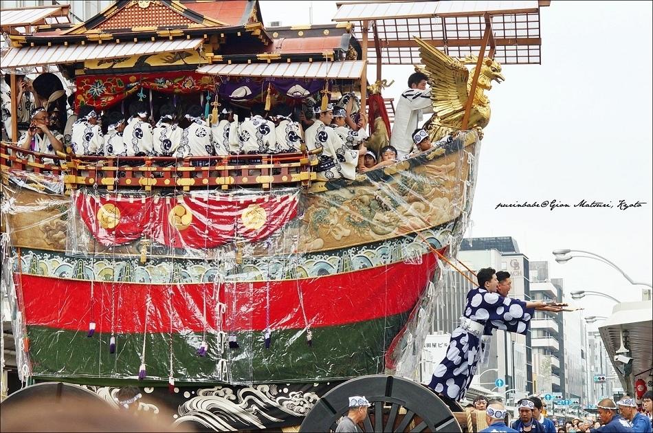60京都祇園祭前祭山鉾巡行最末棒船鉾