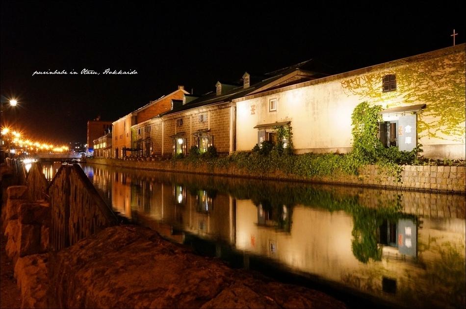 8小樽運河夜景5