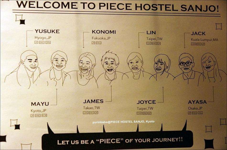 6Piece Hostel Sanjo工作人員