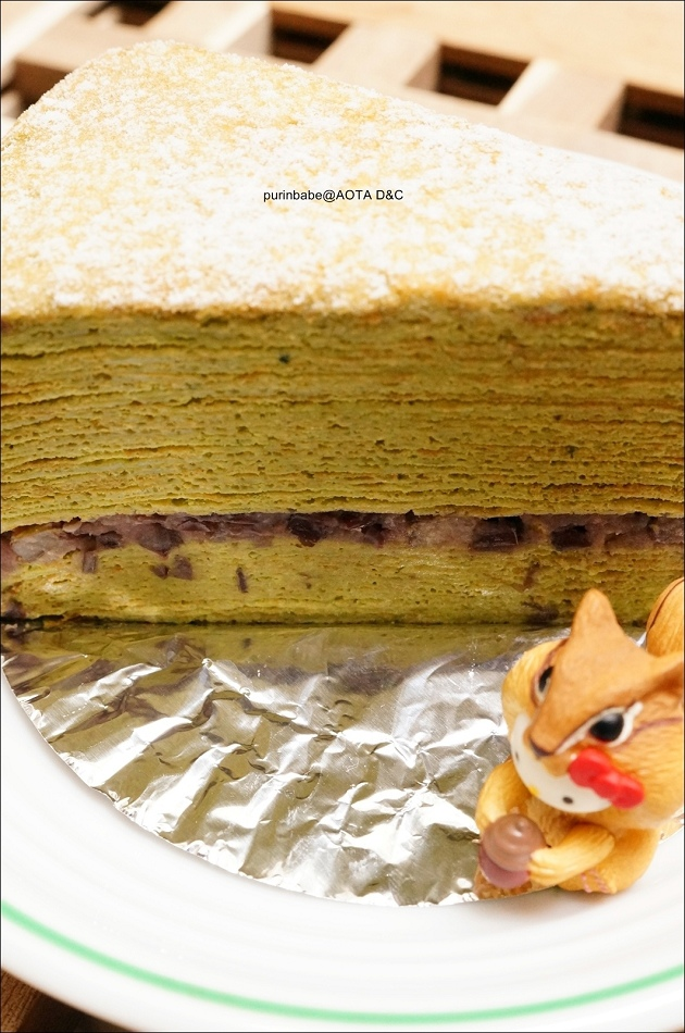30靜岡抹茶紅豆千層蛋糕1