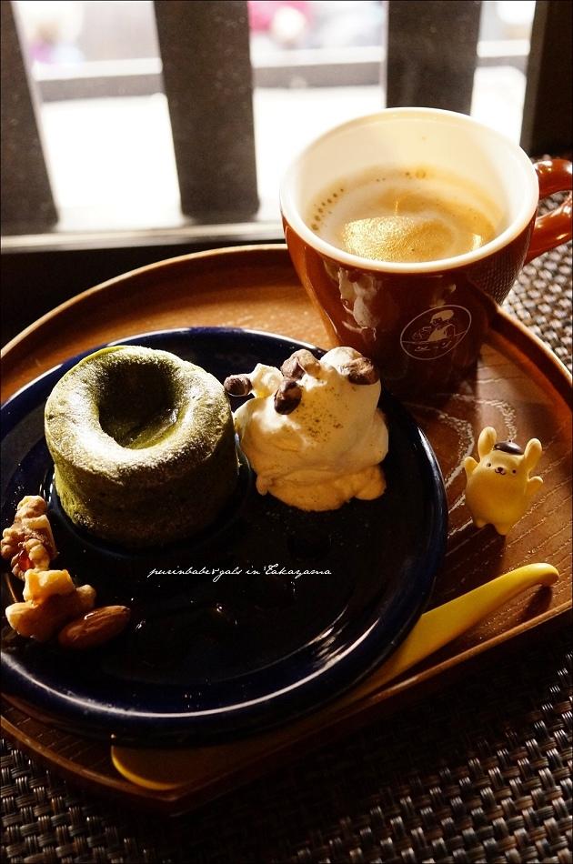 23熔岩抹茶蛋糕 拿鐵
