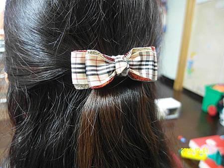 可愛蝴蝶結髮夾