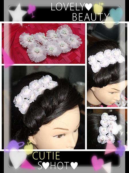 氣質粉紅花飾品