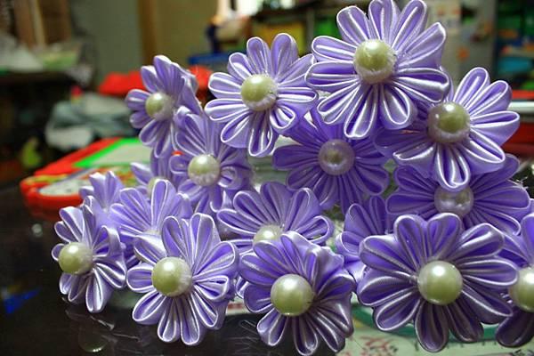 【手作】淡紫色珠寶捧花