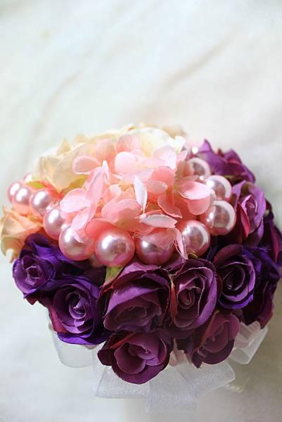 愛心珍珠捧花