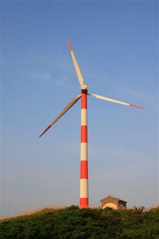 恢復了精神後,來到風力發電廠!