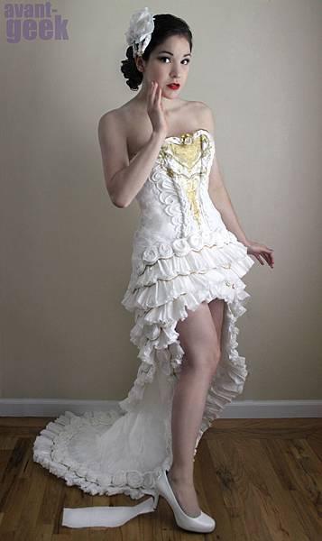 用紙做的白紗-Olivia Mears