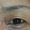 繡眉色塊感較明顯,且易褪色
