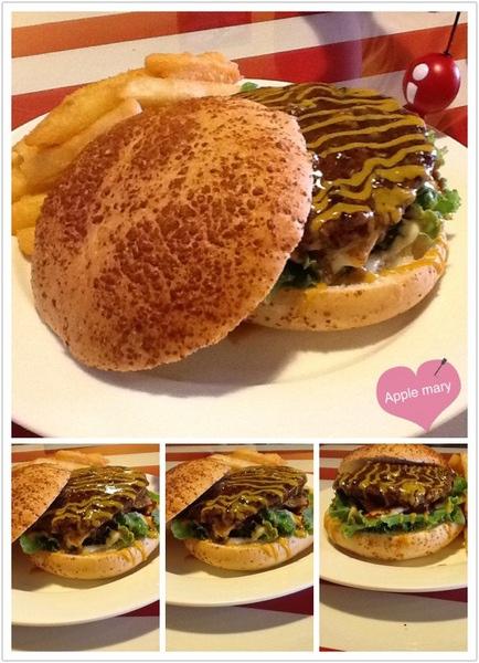 OX 阿克斯美式餐廳:<高雄>OX 阿克斯美式餐廳<比臉還大的漢堡且超值>