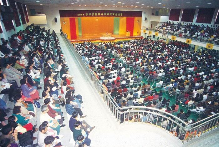 於台中向上國中大禮堂舉辦「印心禪法發表會」
