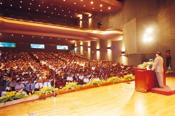 妙天禪師在台北市政府大禮堂演講「智慧禪學」