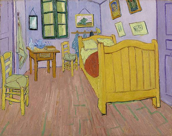 Impression of the original colours of The Bedroom