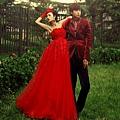 ab0014020紅色韓式韓版抹胸新娘結婚敬酒公主婚紗禮服2012新款6051-1