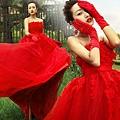 ab0014020紅色韓式韓版抹胸新娘結婚敬酒公主婚紗禮服2012新款6051-2