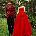 ab0014020紅色韓式韓版抹胸新娘結婚敬酒公主婚紗禮服2012新款6051-4