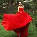 ab0014020紅色韓式韓版抹胸新娘結婚敬酒公主婚紗禮服2012新款6051-5