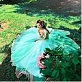 ab0035970性感單肩 韓式新娘藍綠色結婚敬酒晚禮服 2012新款 8028-3
