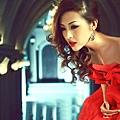 ab0044470紅色新娘結婚敬酒婚宴施華洛婚紗 抹胸晚禮服 2012最新款2689-3