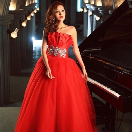ab0044470紅色新娘結婚敬酒婚宴施華洛婚紗 抹胸晚禮服 2012最新款2689-4