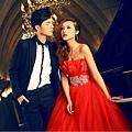 ab0044470紅色新娘結婚敬酒婚宴施華洛婚紗 抹胸晚禮服 2012最新款2689-5