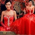 ab0064020璀璨鑽石 紅色新娘蕾絲修身婚紗結婚敬酒禮服 2012春季新款288-1