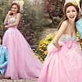 ab0085970奢華鑽石 韓式韓版粉色新娘皇室公主婚紗禮服2012最新款7766-1