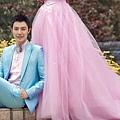 ab0085970奢華鑽石 韓式韓版粉色新娘皇室公主婚紗禮服2012最新款7766-4