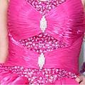ab0091920奢華水晶吊帶 枚紅色露肩 婚禮 party 性感蓬蓬公主小禮服裙280-4