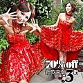 ab00102520韓版韓式新娘伴娘婚紗小禮服紅色抹胸蝴蝶結短款結婚敬酒禮服-1