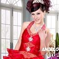 ab0111470奢華水晶吊帶 紅色露肩 婚禮 party 性感蓬蓬公主裙 小禮服裙270-1 (1)