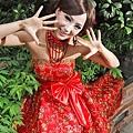 ab00102520韓版韓式新娘伴娘婚紗小禮服紅色抹胸蝴蝶結短款結婚敬酒禮服-5
