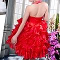 ab0111470奢華水晶吊帶 紅色露肩 婚禮 party 性感蓬蓬公主裙 小禮服裙270-1 (2)