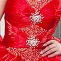 ab0111470奢華水晶吊帶 紅色露肩 婚禮 party 性感蓬蓬公主裙 小禮服裙270-1 (3)