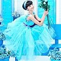 ab0132970精致手工藝與時裝創意完美結合的藍色小禮服 主持人演出服2117-1 (1)