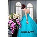 ab0164470秀款高級定制 超華麗鑽石 薄紗 盤花亮片 藍色禮服晚禮服1295-2 (1)