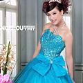 ab0164470秀款高級定制 超華麗鑽石 薄紗 盤花亮片 藍色禮服晚禮服1295-2 (2)