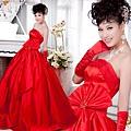 ab0182970夢幻華麗 極致奢華 全手工訂珠 大蝴蝶結 紅色新娘婚紗禮服1122-1 (1)