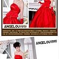 ab0182970夢幻華麗 極致奢華 全手工訂珠 大蝴蝶結 紅色新娘婚紗禮服1122-1 (2)