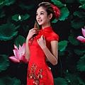 ab0192520紅色複古蕾絲中式改良新娘結婚敬酒旗袍禮服婚紗短款新娘裝 2002-1 (4)