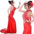 ab0202970性感露背紅色掛脖中式新娘結婚敬酒婚禮婚紗晚禮服2012新款-1 (2)