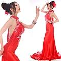 ab0202970性感露背紅色掛脖中式新娘結婚敬酒婚禮婚紗晚禮服2012新款-1 (1)