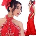 ab0202970性感露背紅色掛脖中式新娘結婚敬酒婚禮婚紗晚禮服2012新款-1 (4)