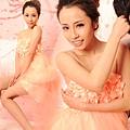 ab0222520甜美粉色花朵 前短後長新娘結婚敬酒婚紗禮服 2012最新款 6109 (2)