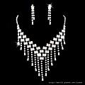 ea023525 水鑽套裝 結婚 新娘套鏈結婚飾品新款2012項鏈耳環女1055