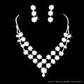 ea020525 水鑽套裝 結婚 新娘套鏈結婚飾品新款2012項鏈耳環女1032